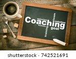 coaching. blackboard with...   Shutterstock . vector #742521691