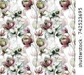 seamless pattern with original...   Shutterstock . vector #742523695