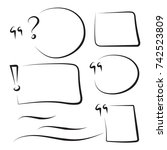 set hand drawn rectangle
