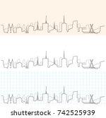 sao paulo hand drawn skyline | Shutterstock .eps vector #742525939