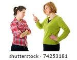 mother warn her daughter for... | Shutterstock . vector #74253181