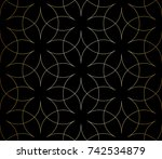 abstract geometric pattern with ... | Shutterstock .eps vector #742534879