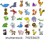 set of icons of animals | Shutterstock .eps vector #74253625