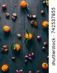 fall concept composition  top...   Shutterstock . vector #742537855