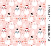 cute vector winter seamless