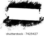 grunge border or frame with... | Shutterstock .eps vector #7425427
