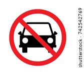 sign for no car or no parking... | Shutterstock .eps vector #742542769