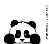 bored panda | Shutterstock .eps vector #742545574