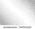 abstract halftone wave dotted... | Shutterstock .eps vector #742551631