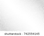 abstract halftone wave dotted... | Shutterstock .eps vector #742554145