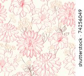 floral pattern. could be used... | Shutterstock .eps vector #74256049