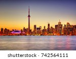 toronto skyline | Shutterstock . vector #742564111