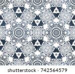 ethnic design. striped... | Shutterstock . vector #742564579