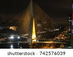 cable stayed bridge in s o... | Shutterstock . vector #742576039