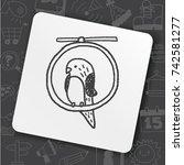 doodle bird   Shutterstock .eps vector #742581277