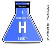 hydrogen symbol on chemical...   Shutterstock .eps vector #742586221