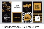 set of sale banner template... | Shutterstock .eps vector #742588495