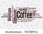 wordcloud of coffee | Shutterstock .eps vector #74258911