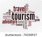 wordcloud of turism   Shutterstock .eps vector #74258917