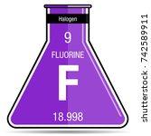 fluorine symbol on chemical...   Shutterstock .eps vector #742589911