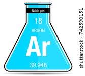argon symbol on chemical flask. ...   Shutterstock .eps vector #742590151