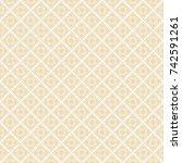 thai seamless flower pattern... | Shutterstock .eps vector #742591261