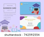 education business name card... | Shutterstock .eps vector #742592554