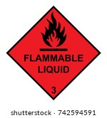 flammable liquid diamond with... | Shutterstock .eps vector #742594591