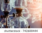 coffee make concept with drip... | Shutterstock . vector #742600444
