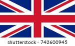 simple flag of united kingdom.... | Shutterstock .eps vector #742600945
