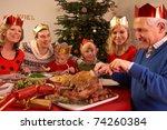 three generation family... | Shutterstock . vector #74260384