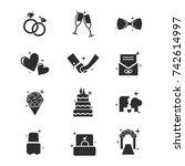 wedding icons. wedding icon set ...   Shutterstock .eps vector #742614997