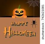 happy halloween design | Shutterstock .eps vector #742621081