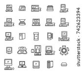 old computer icons. apple...