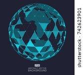 global network vector | Shutterstock .eps vector #742623901
