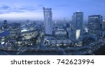 panoramic view of warsaw... | Shutterstock . vector #742623994