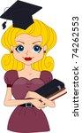 illustration of a pin up girl... | Shutterstock .eps vector #74262553