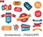 sale banners set  discount...   Shutterstock .eps vector #742631995