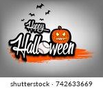 banner happy halloween and... | Shutterstock .eps vector #742633669