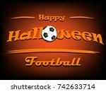 banner happy halloween and... | Shutterstock .eps vector #742633714