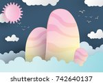 abstract background mountain... | Shutterstock .eps vector #742640137