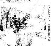 grunge black and white vector.... | Shutterstock .eps vector #742644424
