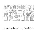 reading vector linear... | Shutterstock .eps vector #742653277