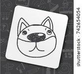 doodle dog   Shutterstock .eps vector #742654054