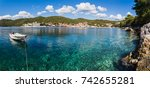 a multiple image panorama...   Shutterstock . vector #742655281
