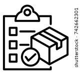 check order vector icon | Shutterstock .eps vector #742662301