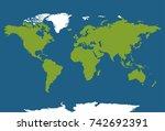 world map illustration.... | Shutterstock .eps vector #742692391