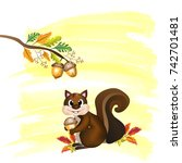 vector and illustration of cute ...   Shutterstock .eps vector #742701481