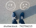 choice   happy smileys or... | Shutterstock . vector #742706215