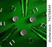 conceptual beer background.... | Shutterstock . vector #742708549